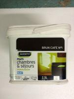 Peinture Interieure Murs Chambres et Sejours Mat Monocouche 2,5 litres Brun Cafe n1<br/>Inventiv