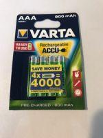 Piles Rechargeables LR3 AAA x4 800mHA Nimh<br/>Varta