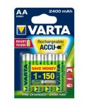 Piles Rechargeables AA x4 2400mHA Nimh<br/>Varta