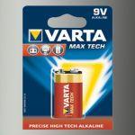 Piles Alcaline 9V MaxTech 6LR61 x1<br/>Varta