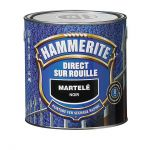 Peinture Exterieure Fer 750ml Martele Noir<br/>Hammerite