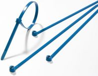 Serre-cables 186 mm x 4.80 mm bleu crantage interieur 100 pieces<br/>ABB