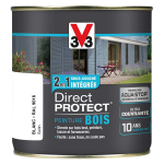 Peinture exteieure bois Direct Protect satin blanc 500 ml<br/>V33