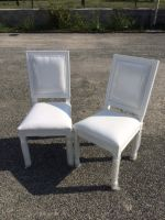 Lot 2 Chaises Baroques Blanches<br/>