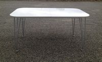 Table Sejour Extensible Laquee Blanc<br/>