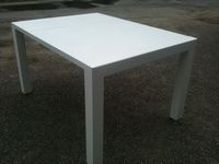 Table Haute Transformable Blanche Design<br/>